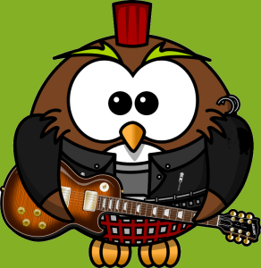 pūce ar ģitāru